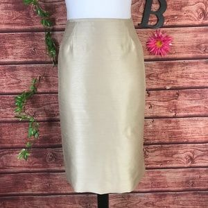 Suit Studio Skirt 8 Gold Wedding Knee Church Slim